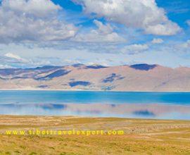 Peikutso Lake in Shigatse, Tibet