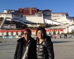Tibetan Guide Tenzin Gelek and Father in front of Potala Palace