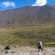 Ganden Samye trekking green meadows