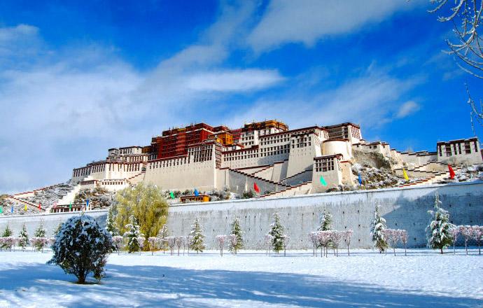 Potala Palace, Lhasa tempreature