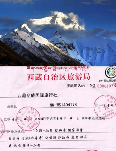 April Everest Base Camp Group Tour permits
