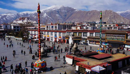 Top 10 Highlight Tibet Landmarks-Barkhor Street
